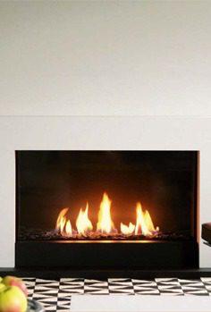 Foyer gaz Lorflam Grande vision - 120 H