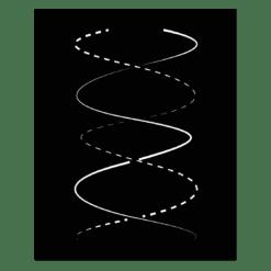 Plaque murale spirale
