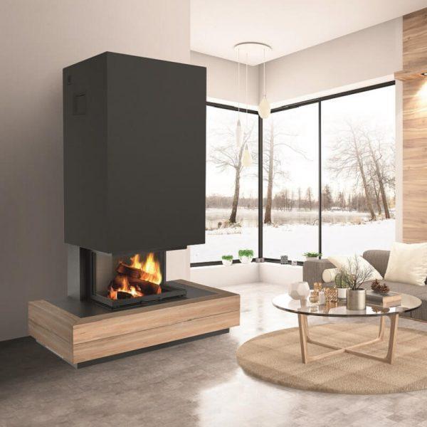 Cheminée sur-mesure / Collection Concept Wood : Modèle Woody